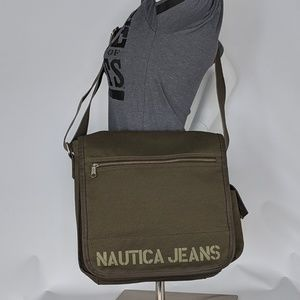 Nautica Jeans Military Green Messenger Bag